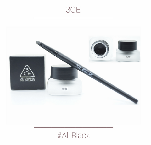 3CE - Gel Eyeliner (All Black)
