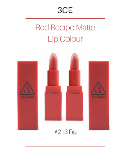 3CE - Red Recipe Matte Lip Colour (#213 Fig)