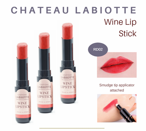 LABIOTTE - Chateau Labiotte Wine Lip Stick (Fitting) [#RD02 Pinot Red) lip colour example