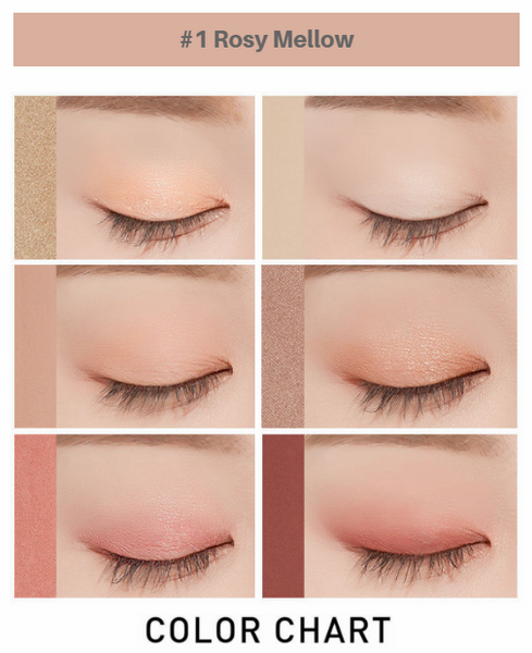 A'PIEU - Full Of Color Eyes (#1 Rosy Mellow) EXAMPLE