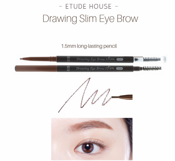 Etude House - Drawing Slim Eye Brow 1.5mm (#05 Red Brown)