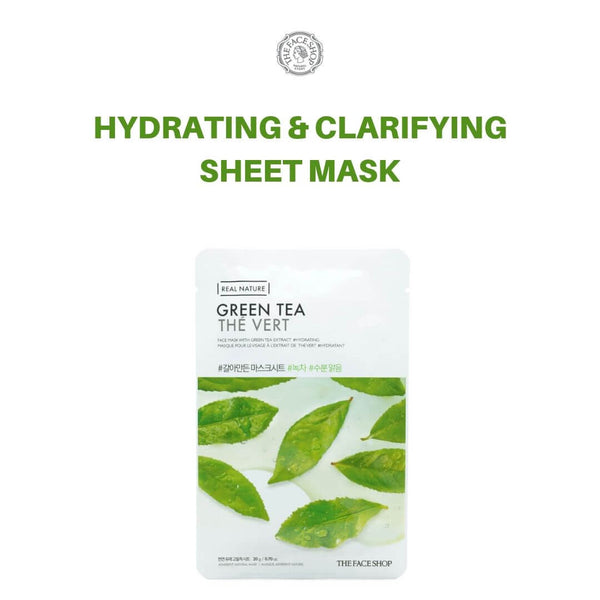 THE FACE SHOP Real Nature Green Tea Mask 20g