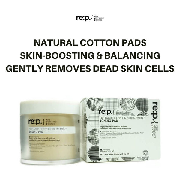re:p. Organic Cotton Treatment Toning Pad (90 Pads) 130ml