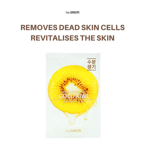 the SAEM Natural Gold Kiwi Mask Sheet 21ml