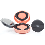 3CE - Blush Cushion (Coral) open with cushion sponge puff