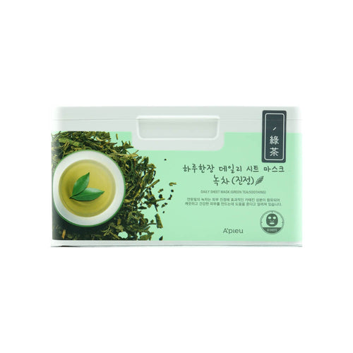 A'PIEU Daily Sheet Mask (Green Tea/Soothing) 33 Sheets