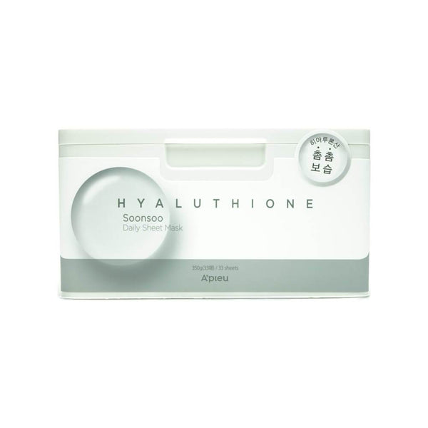 A'PIEU Hyaluthione Soonsoo Daily Sheet Mask 33 Sheets