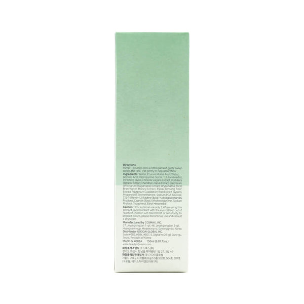 Beauty of Joseon Bubble Toner Green Plum + AHA 150ml box 2