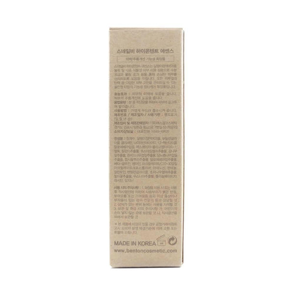 Benton Snail Bee High Content Essence box info side 3