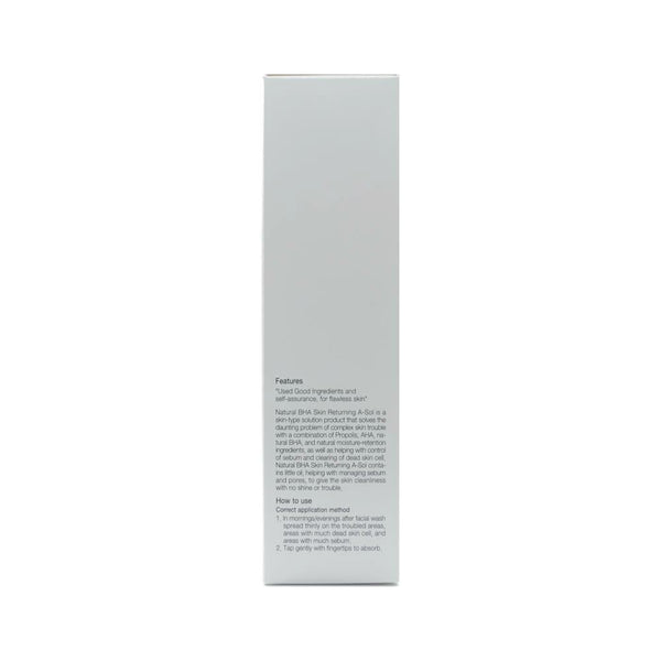 COSRX Natural BHA Skin Returning A-Solbox info side 1