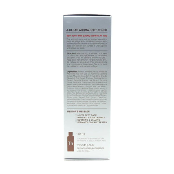 Dr.G A-Clear Aroma Spot Toner 170ml box side 1