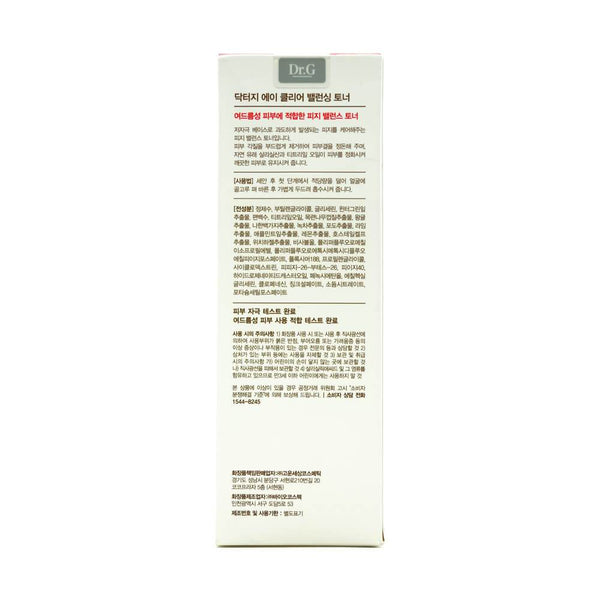 Dr.G A-Clear Balancing Toner 170ml box 1