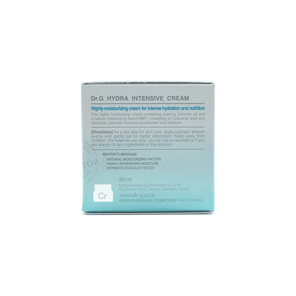 Dr.G Hydra Intensive Cream 50ml box side 2