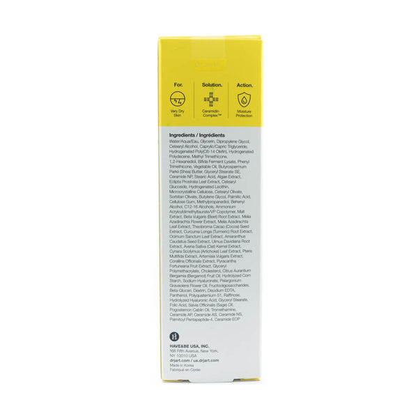 Dr. Jart+ Ceramidin Cream 50ml box info side 1
