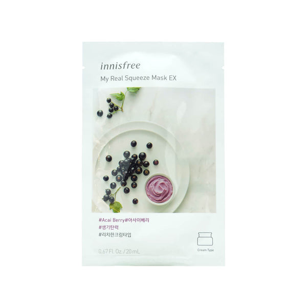 Innisfree My Real Squeeze Mask (Acai Berry) 20ml
