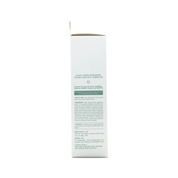 KLAVUU Green Pearlsation Tea Tree Care Spot Corrector box 1