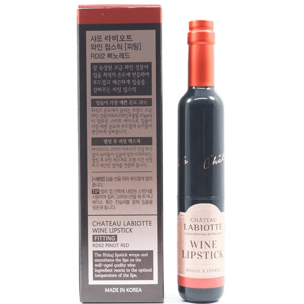LABIOTTE - Chateau Labiotte Wine Lip Stick (Fitting) [#RD02 Pinot Red) back of package
