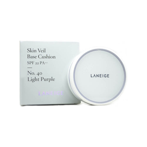 LANEIGE Skin Veil Base Cushion (No.40 Light Purple) 15g x 2