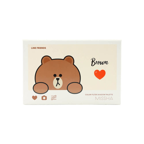 MISSHA Color Filter Shadow Palette #5 Shy Shy Brown (Line Friends Edition)