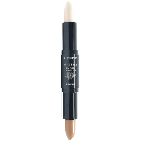 Missha - Contour Gradation Stick (#01) exposing both end colour back