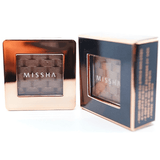Missha - Modern Shadow Italprism (#17 Cocoa Meringue) next to package