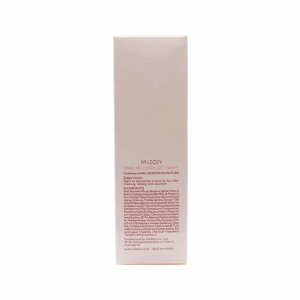 Mizon Snail Recovery Gel Cream box info side 2
