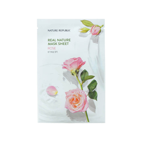 Nature Republic Real Nature Mask Sheet Rose 23ml