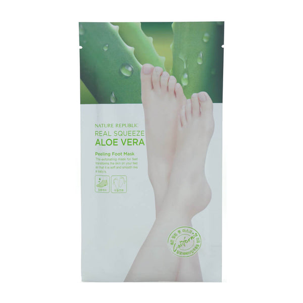 Nature Republic Real Squeeze Aloe Vera Peeling Foot Mask 1pair
