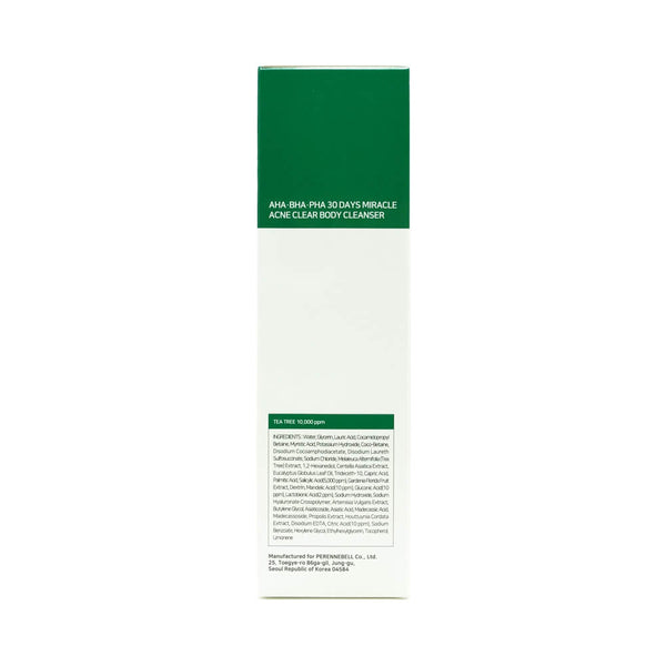 SOME BY MI AHA, BHA, PHA 30 Days Miracle Acne Clear Body Cleanser box 1