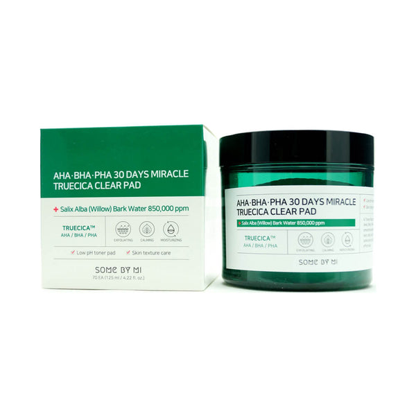 SOME BY MI AHA, BHA, PHA 30 Days Miracle Truecica Clear Pad (70pcs) 125ml