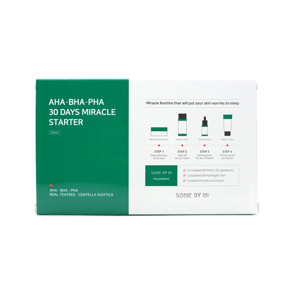 SOME BY MI AHA, BHA, PHA 30 Days Miracle Starter 4 Step Kit box1
