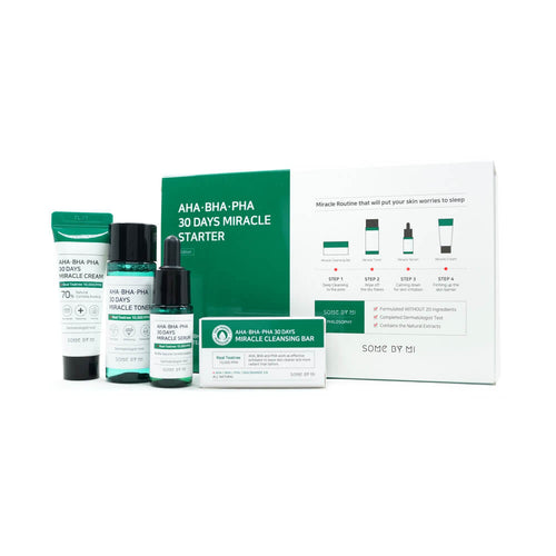 SOME BY MI AHA, BHA, PHA 30 Days Miracle Starter 4 Step Kit