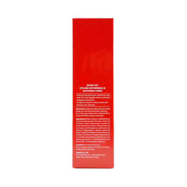Secret Key SYN-AKE Anti Wrinkle & Whitening Toner box 2