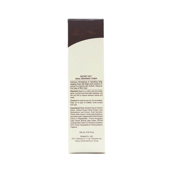 Secret Key Snail Repairing Toner 150ml box info 1