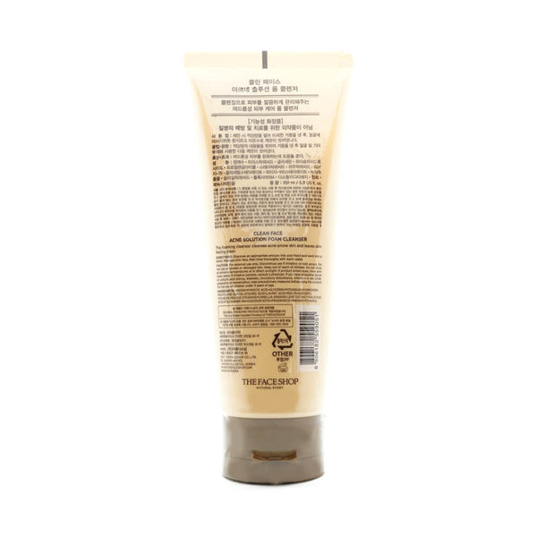 THE FACE SHOP Clean Face Acne Solution Foam Cleanser back