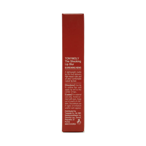 TONYMOLY The Shocking Lip Blur (05 Breaking News) box 1