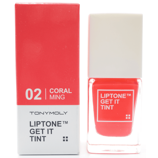 Tony Moly - Liptone Get It Tint (#02 Coral Ming) with package