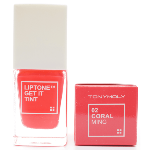Tony Moly - Liptone Get It Tint (#02 Coral Ming) top print on box