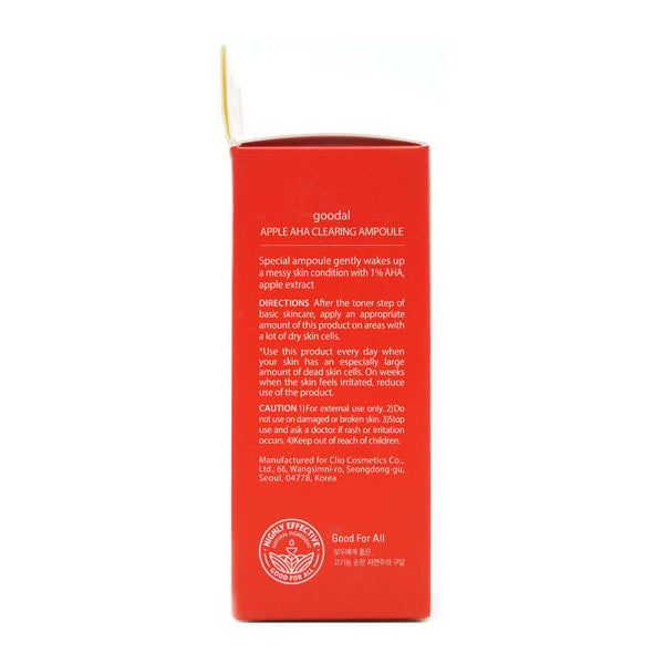 goodal Apple AHA Clearing Ampoule 30ml box 2