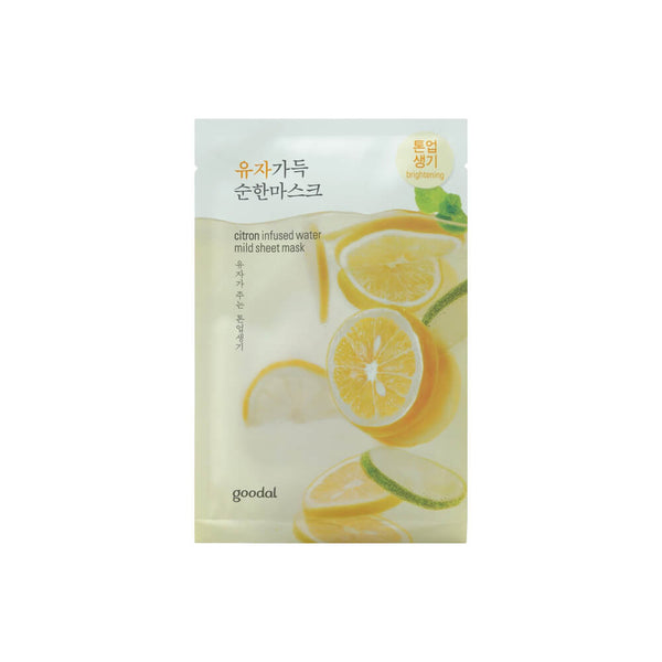 goodal Citron (Yuja) Infused Water Mild Sheet Mask 23ml