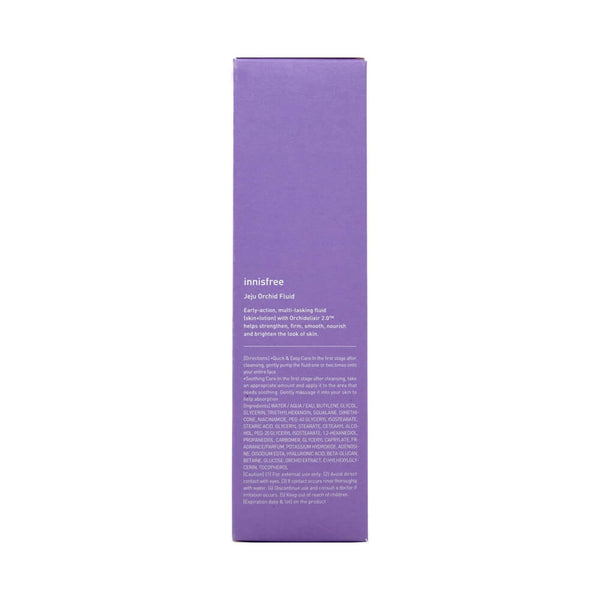 innisfree Jeju Orchid Fluid 100ml box side 1