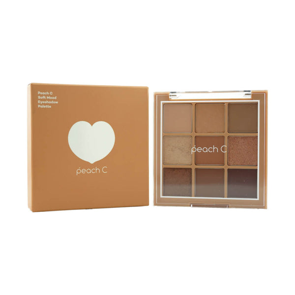 peach C Soft Mood Eyeshadow Palette (Soft Brown)