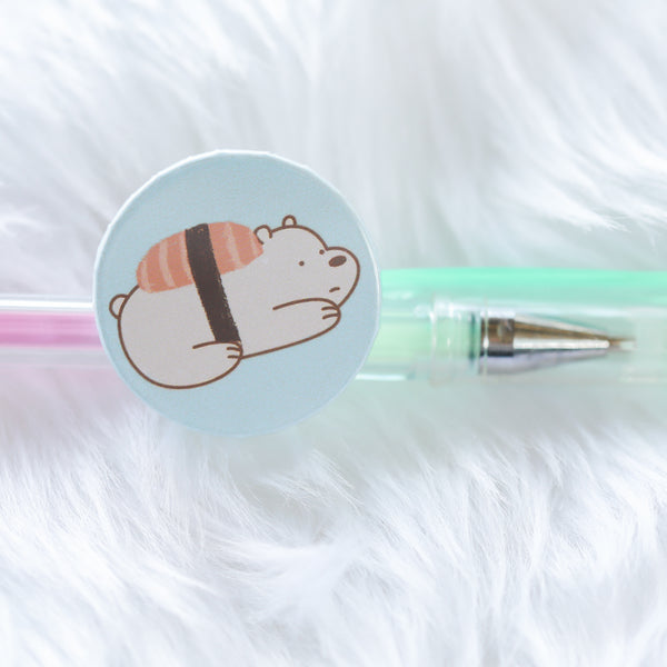 Ice Bear Sushi pin