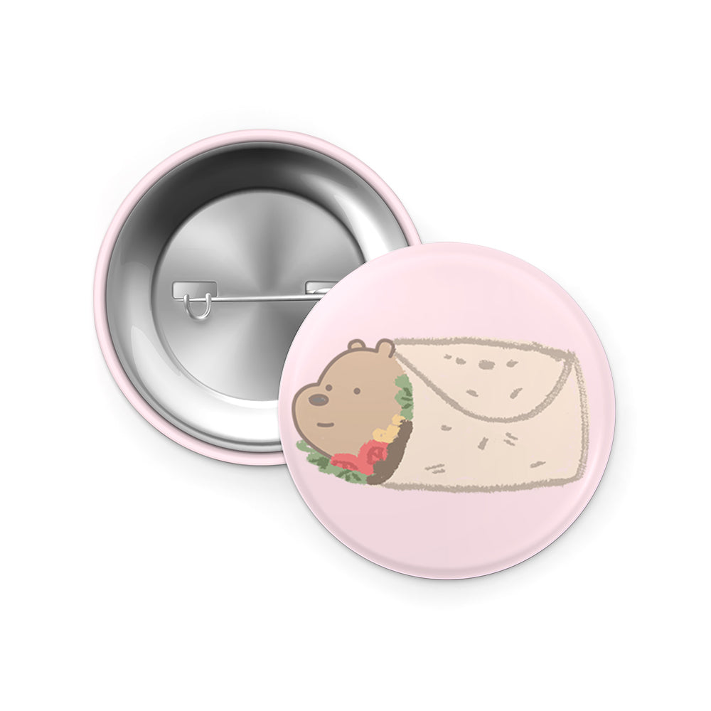 Grizz Burrito pin