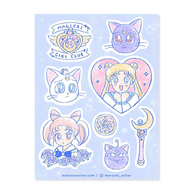 Sailor Moon Sticker Set