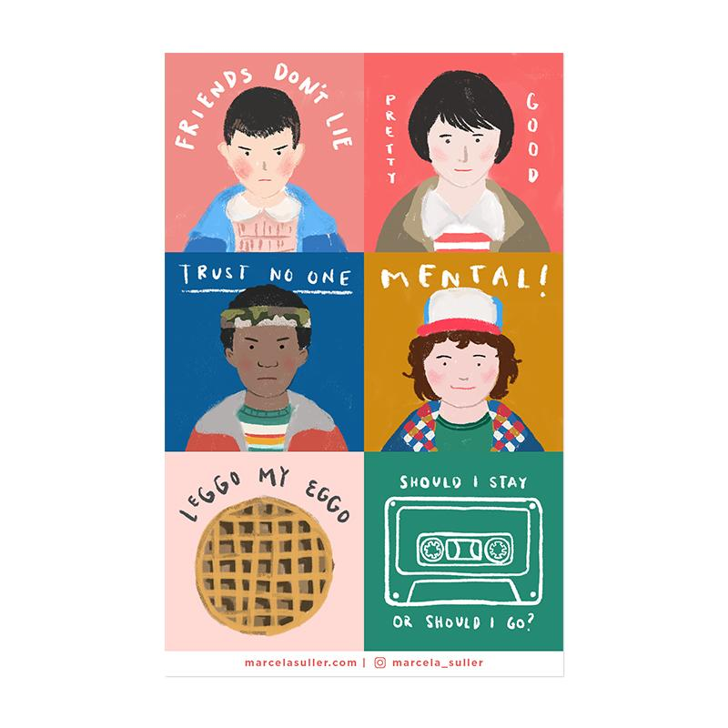 Stranger Things Sticker Set 1