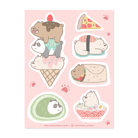 We Bare Bears Sticker Set