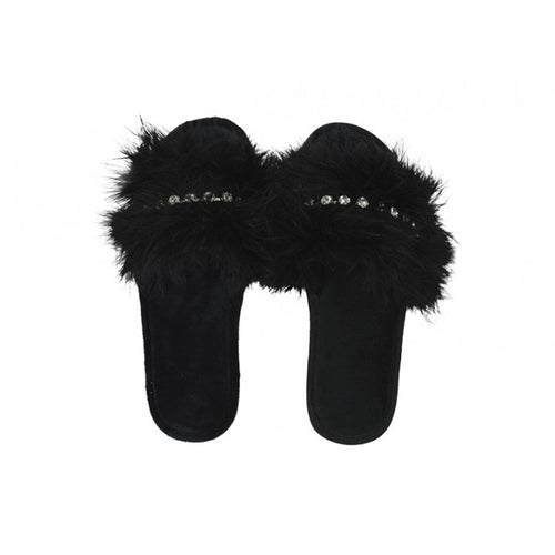 Glam Slide Slippers - Black