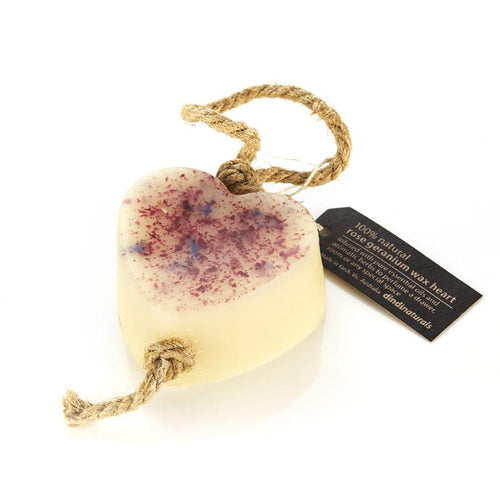Rose Geranium Wax Heart on a Rope