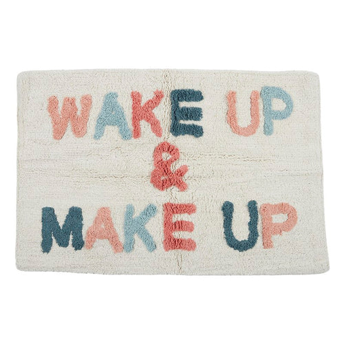 Wake Up Cotton Bath Mat